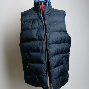 Tommy Hilfiger Reversible Vest Blue Gray Size M/L